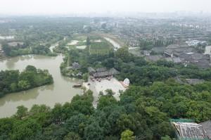 大明寺の仏舎利塔から西望する(400)